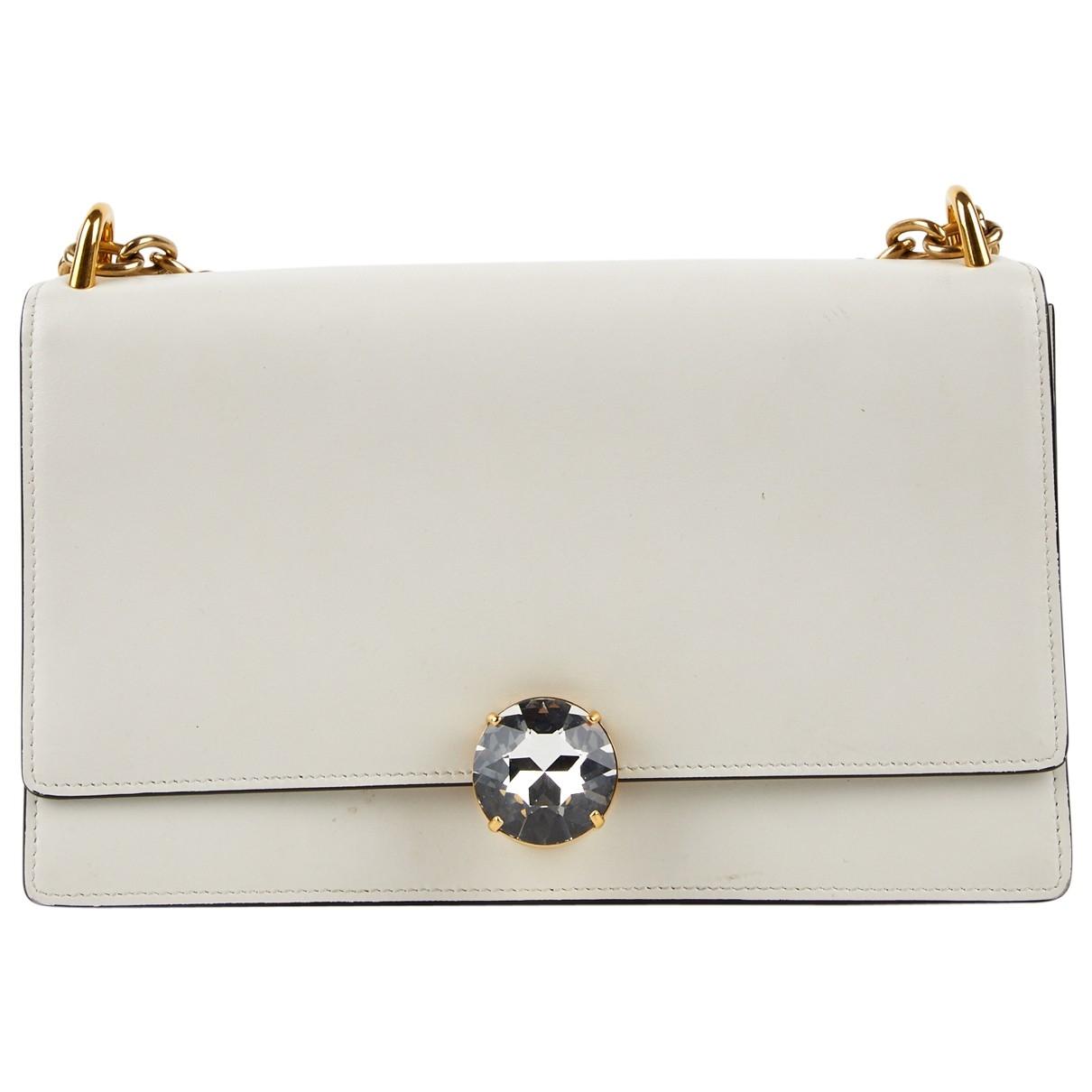 Miu Miu Miu Miu Club Ecru Leather handbag for Women \N