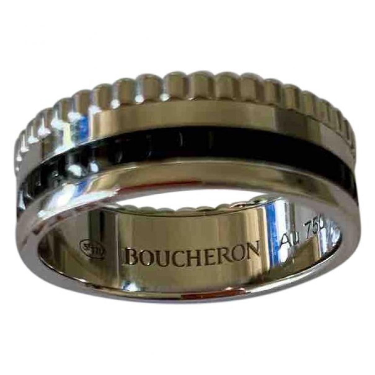 Boucheron - Bague Quatre pour femme en or blanc - argente