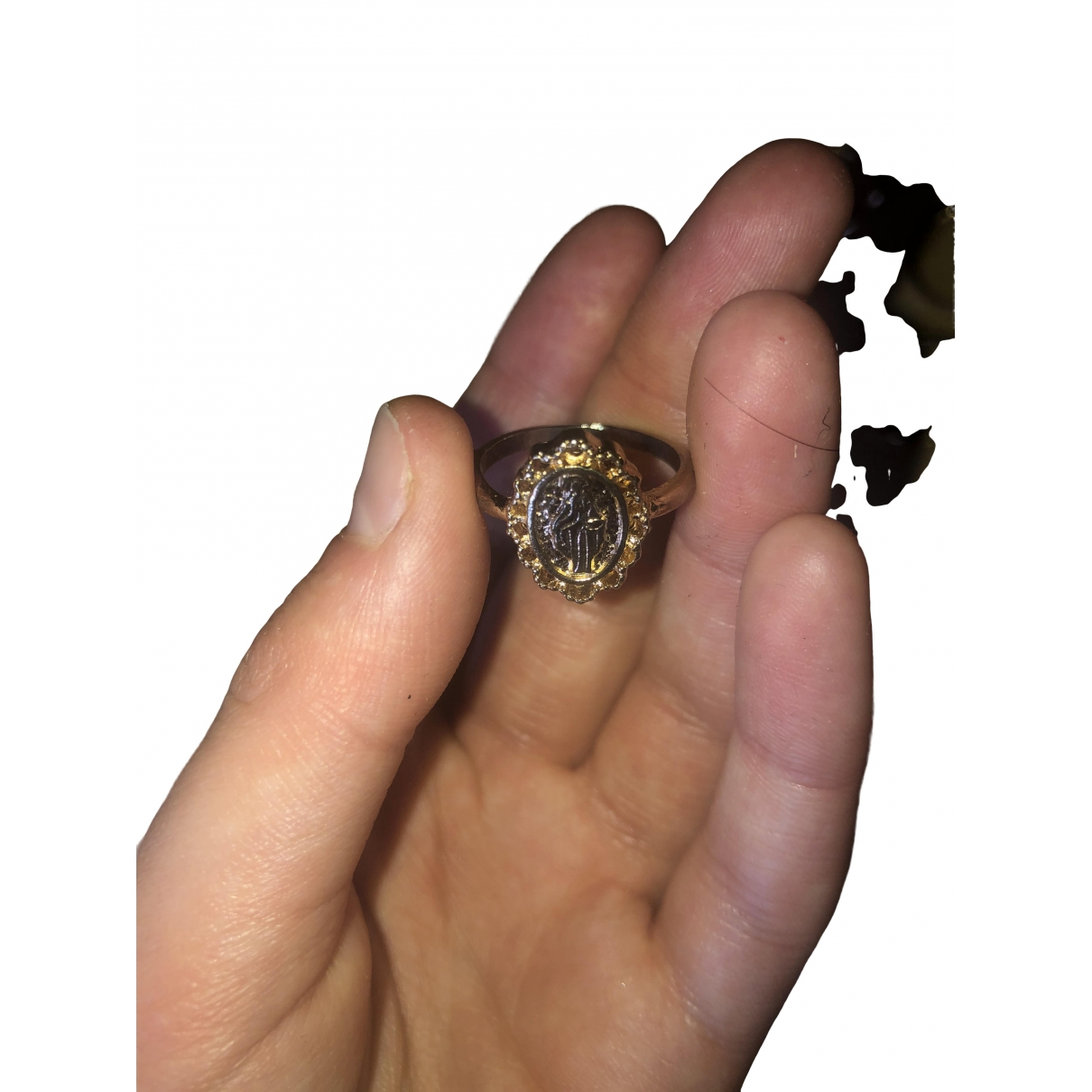 Non Signe / Unsigned \N Ring in  Rosa Metall