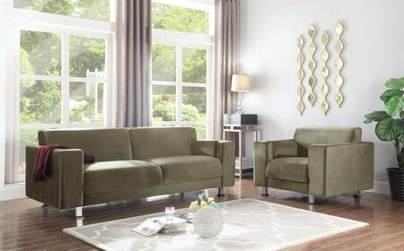 Barbara Collection FSA2672ACSET 2 PC Living Room Set with Sofa and Accent Chair in Taupe