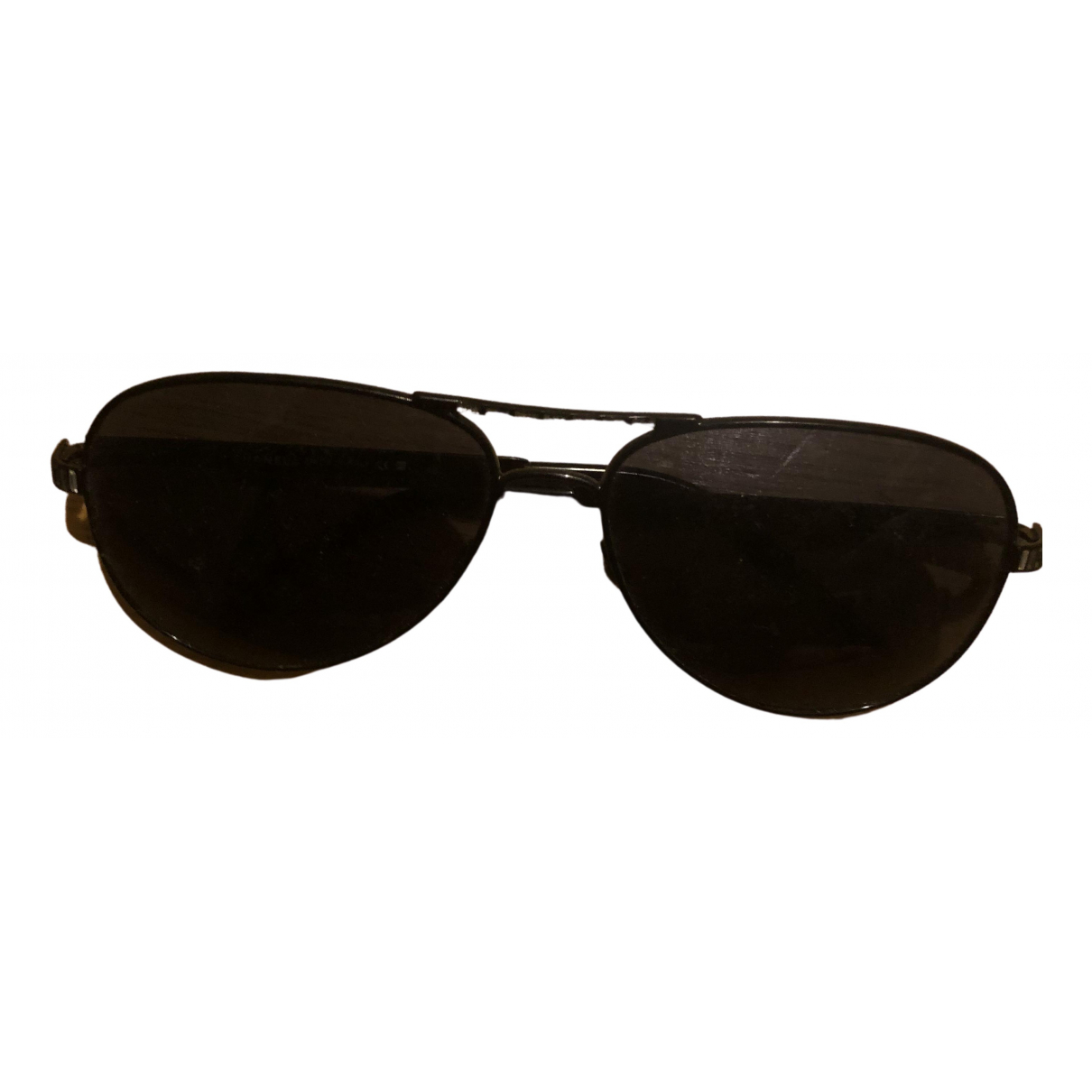 Chanel \N Black Metal Sunglasses for Women \N