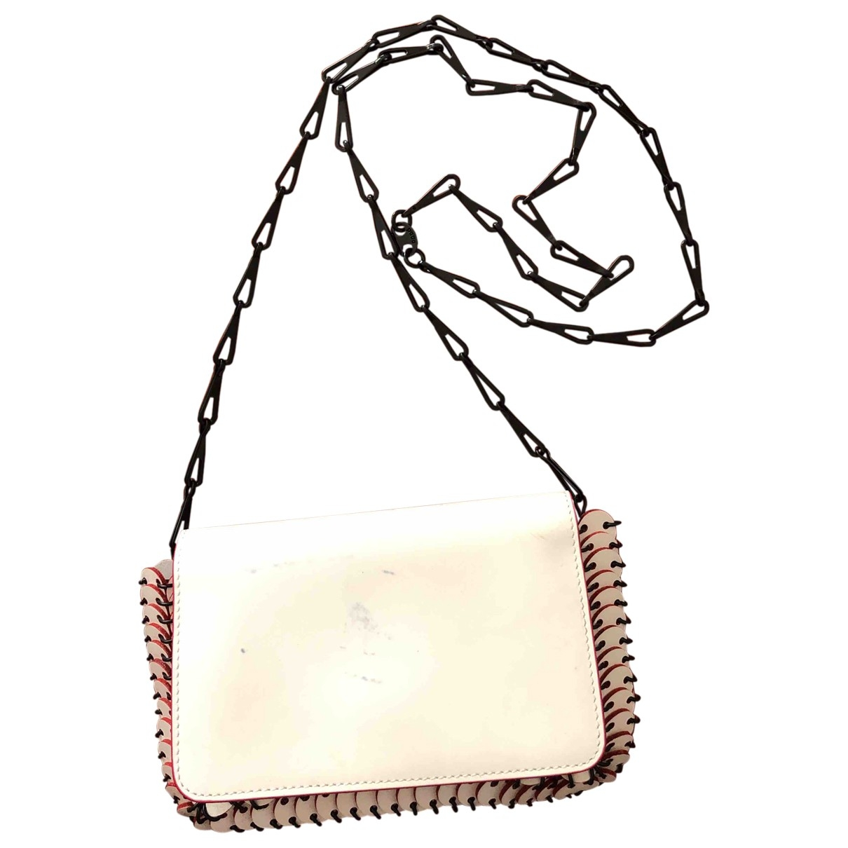 Paco Rabanne \N Ecru Leather handbag for Women \N