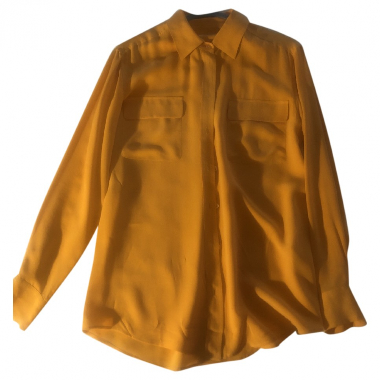 Equipment \N Orange Silk  top for Women S International