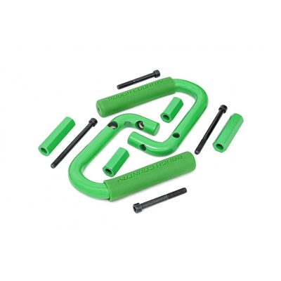 Rough Country Jeep JK Solid Steel Front Grab Handles (Green) - 6501GREEN