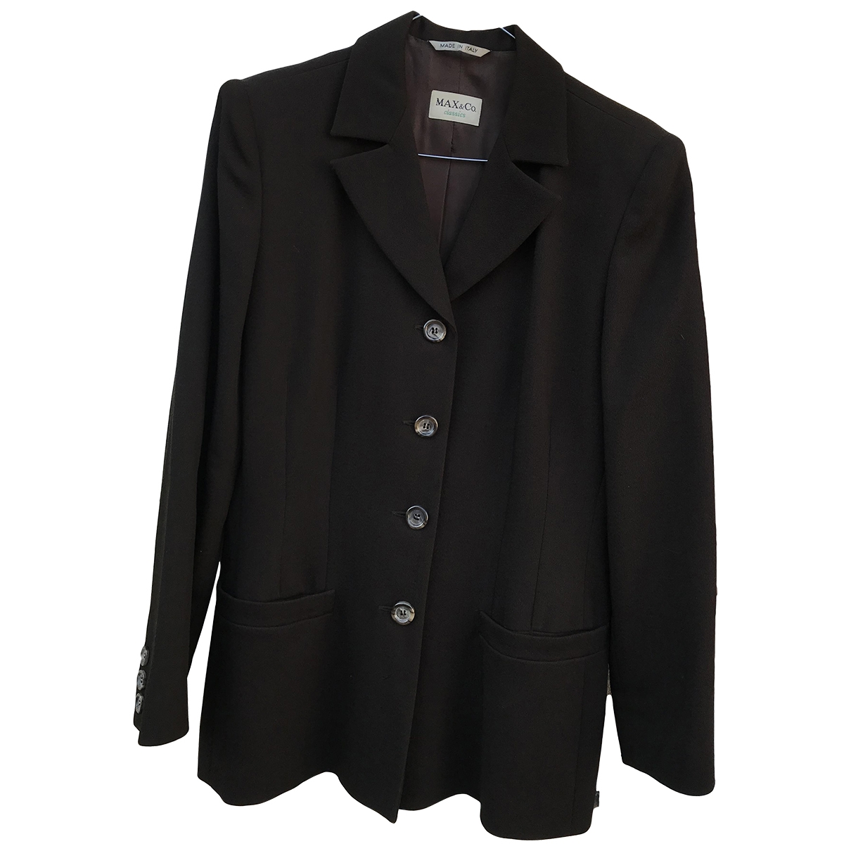 Max & Co \N Brown Wool jacket for Women 42 IT