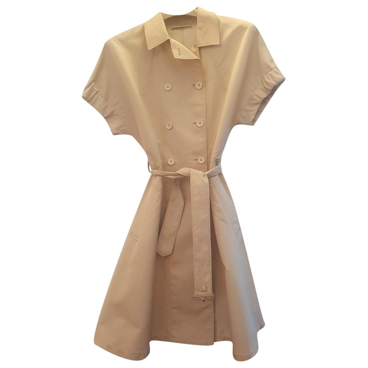 Prada \N Beige Silk Trench coat for Women 42 IT