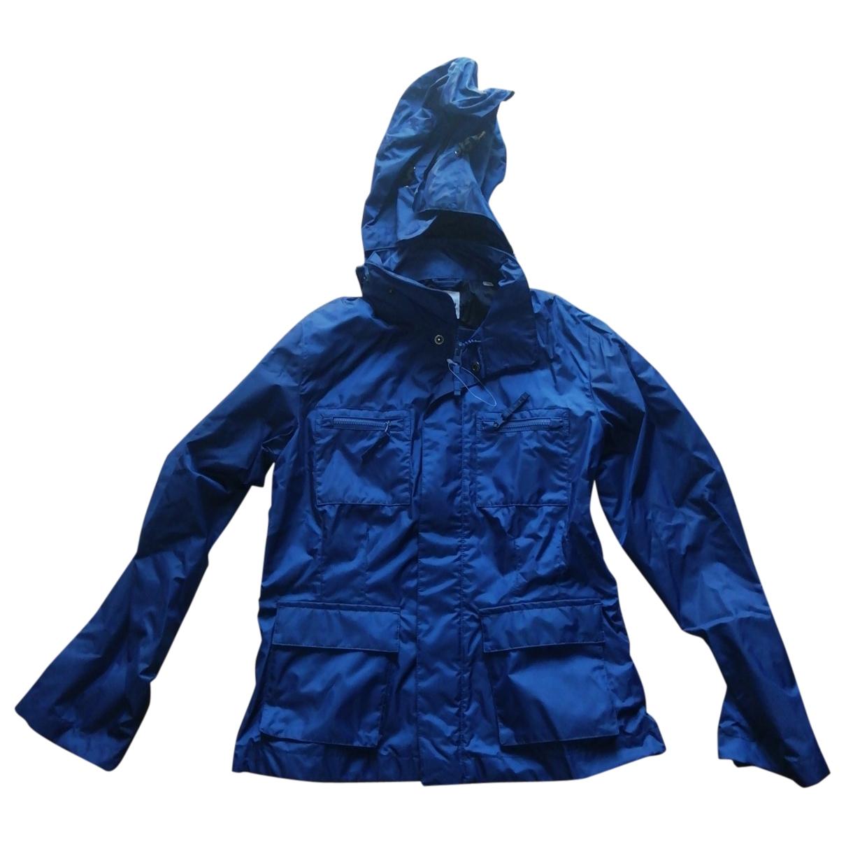 Abrigo, Chaqueta en Poliester Azul Aspesi