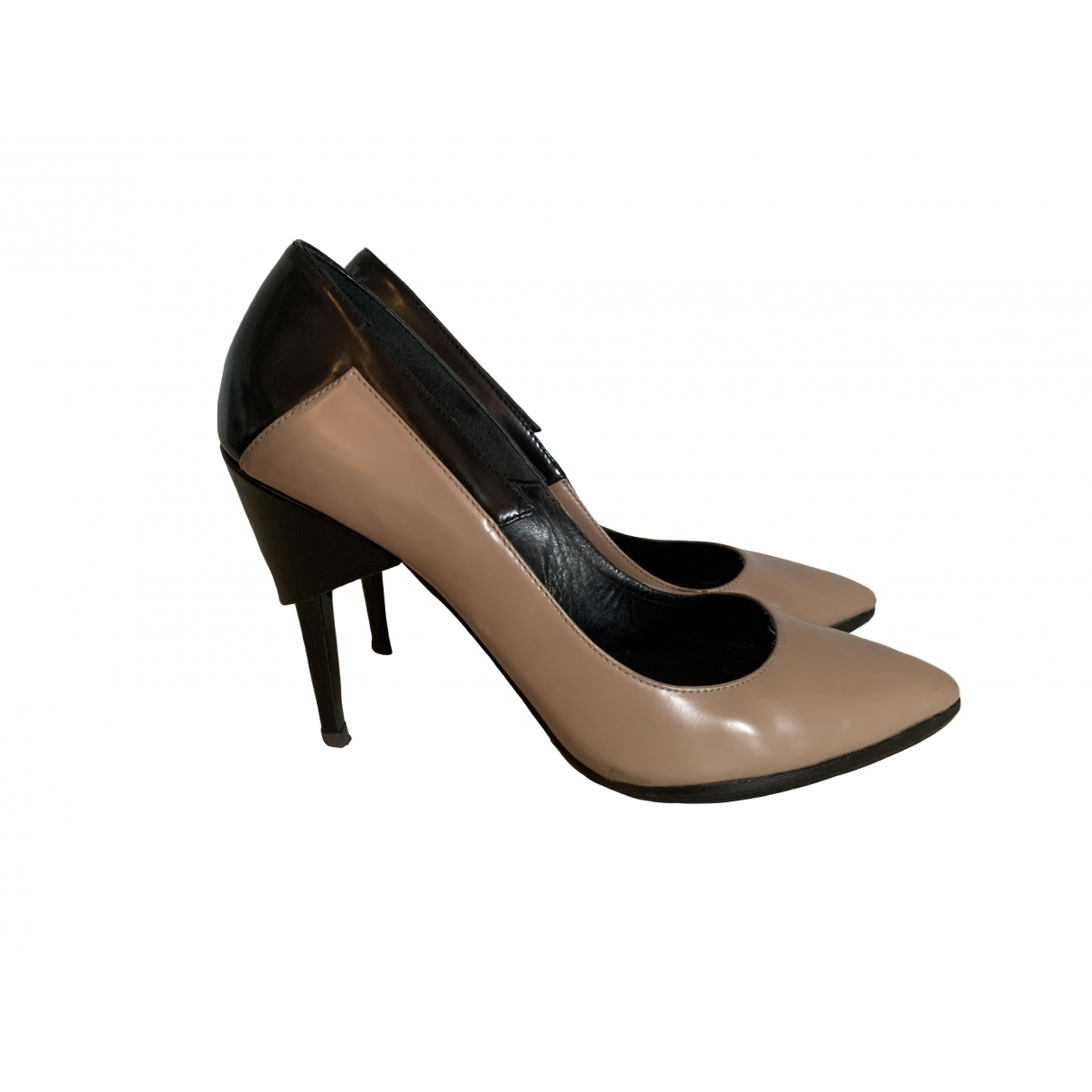 Uterque \N Beige Leather Heels for Women 37 EU