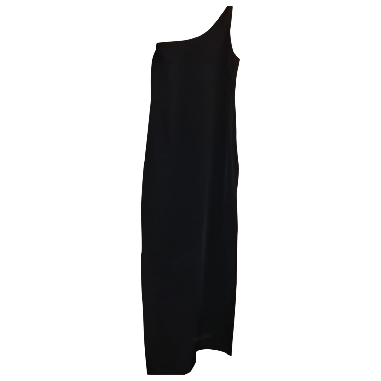 Yves Saint Laurent \N Kleid in  Schwarz Viskose