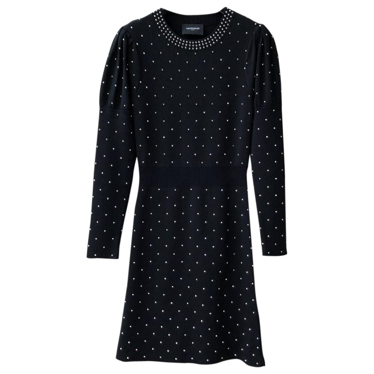 The Kooples Fall Winter 2019 Kleid in  Schwarz Synthetik