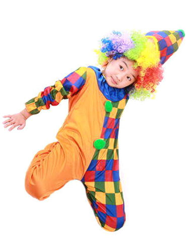 Milanoo Carnival Clown Costumes Circus Halloween Cosplay Jumpsuit For Kids Halloween