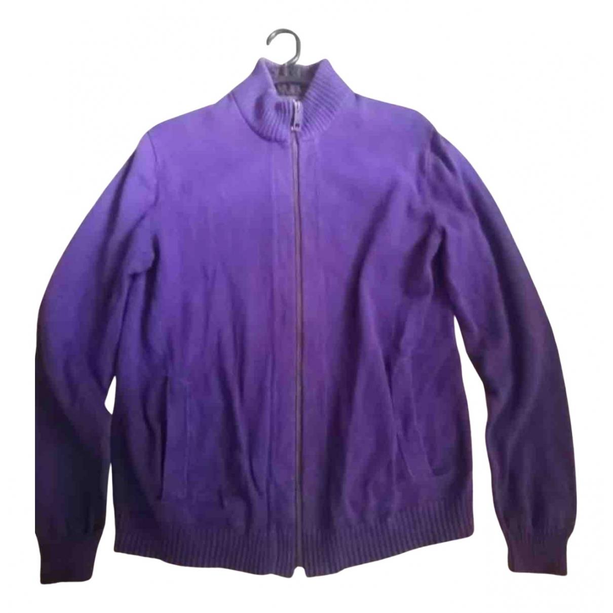 Esprit \N Pullover.Westen.Sweatshirts  in  Lila Baumwolle