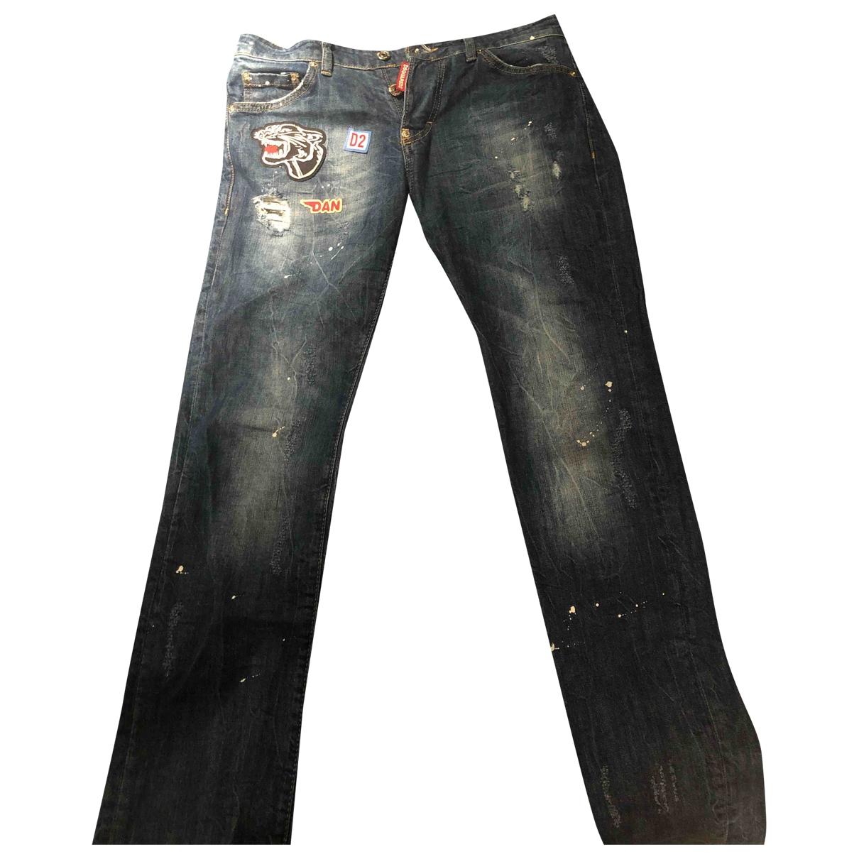 Dsquared2 \N Navy Jeans for Men 42 FR