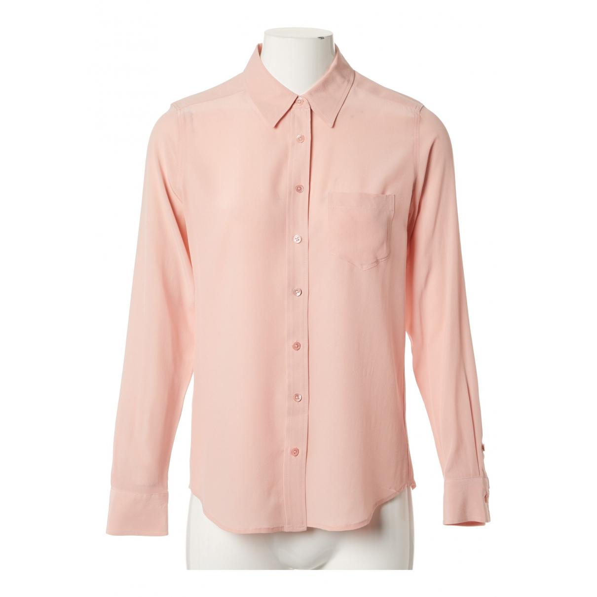 Equipment - Top   pour femme en soie - rose