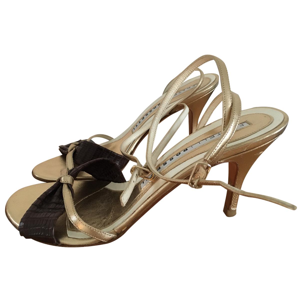 Fratelli Rossetti \N Gold Leather Sandals for Women 36.5 EU