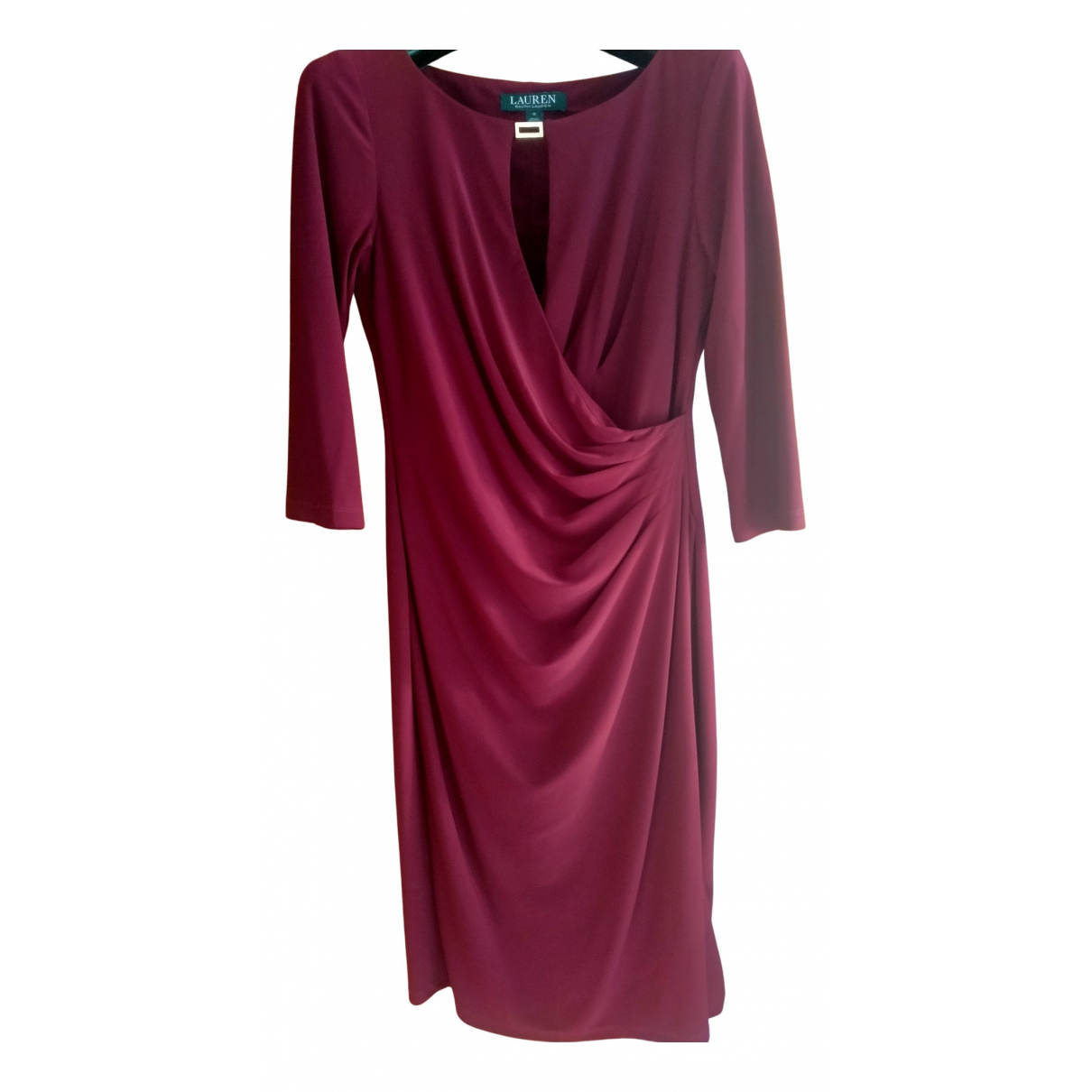 Lauren Ralph Lauren \N Kleid in  Bordeauxrot Polyester