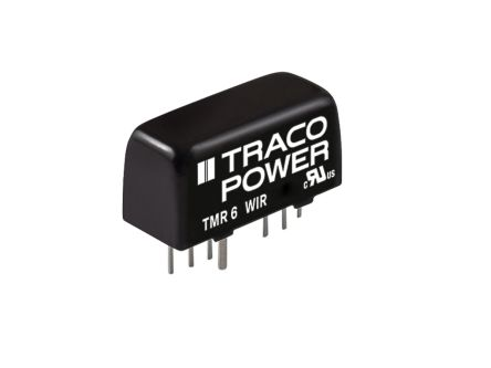 TRACOPOWER TMR 6WIR 6W Isolated DC-DC Converter Through Hole, Voltage in 18 → 75 V dc, Voltage out 3.3V dc