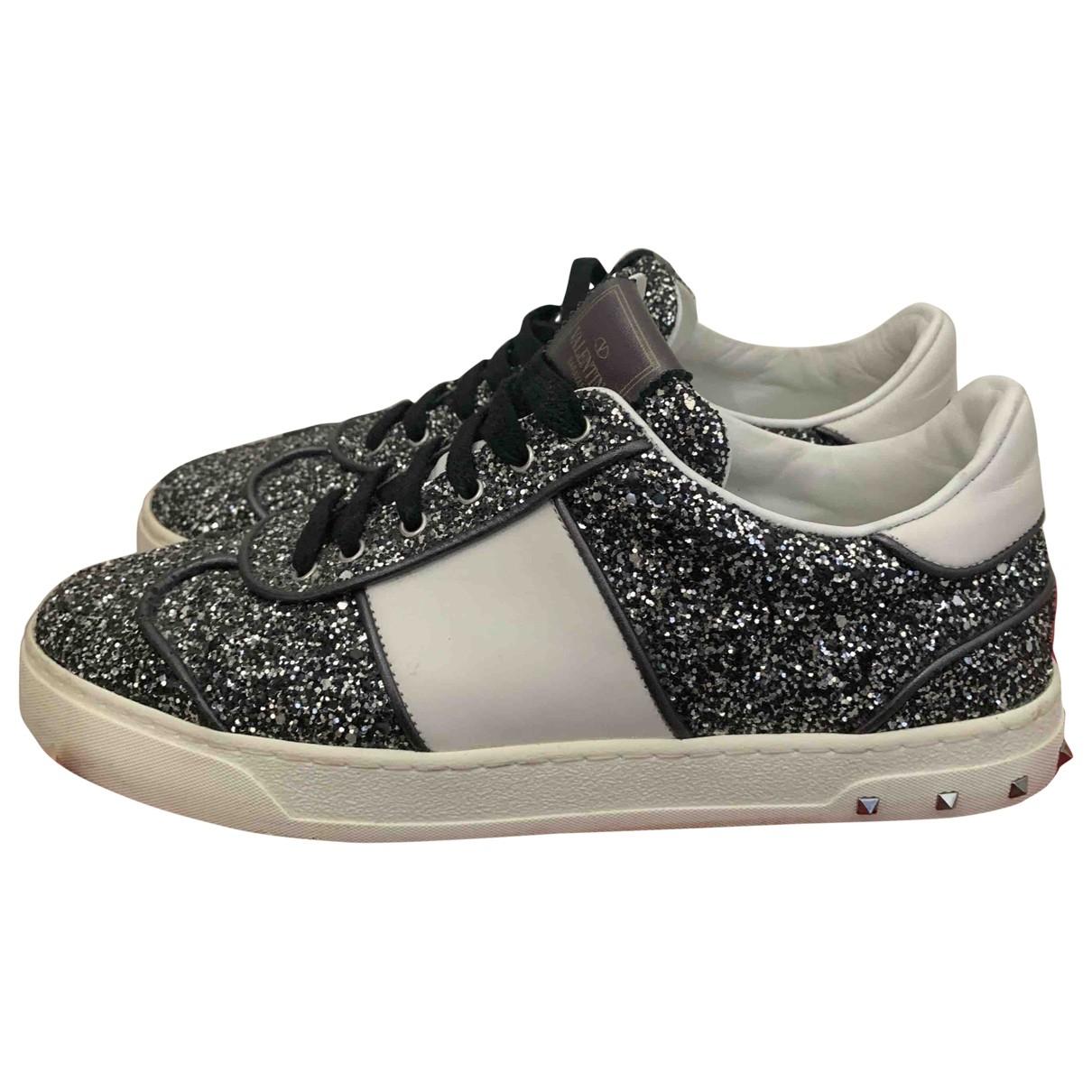Valentino Garavani \N Sneakers in  Grau Mit Pailletten