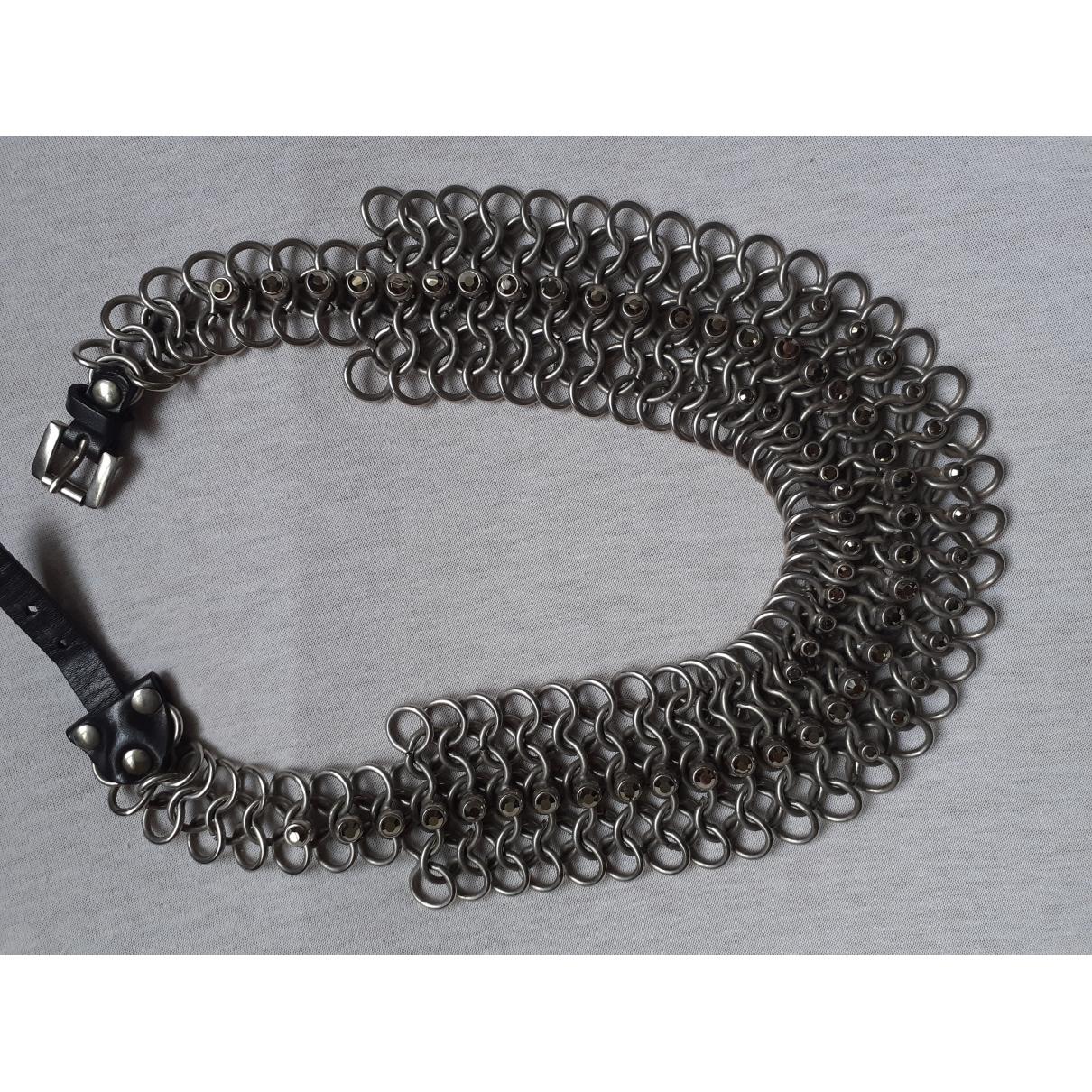 Jean Paul Gaultier \N Grey Metal necklace for Women \N