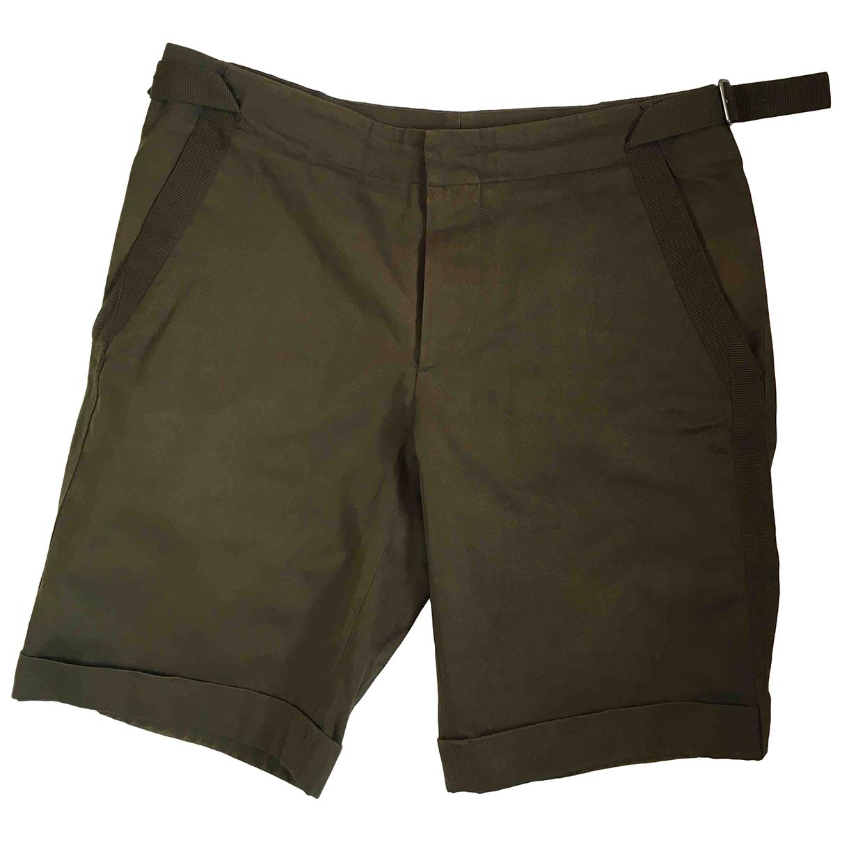 Jil Sander \N Green Cotton Shorts for Women 46 IT