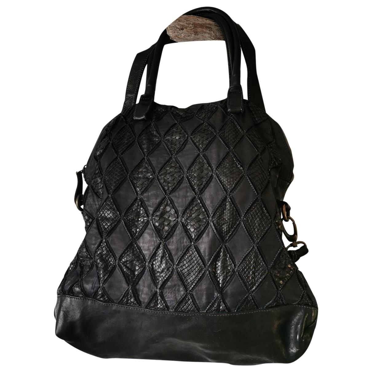 Reptiles House \N Handtasche in  Schwarz Leder