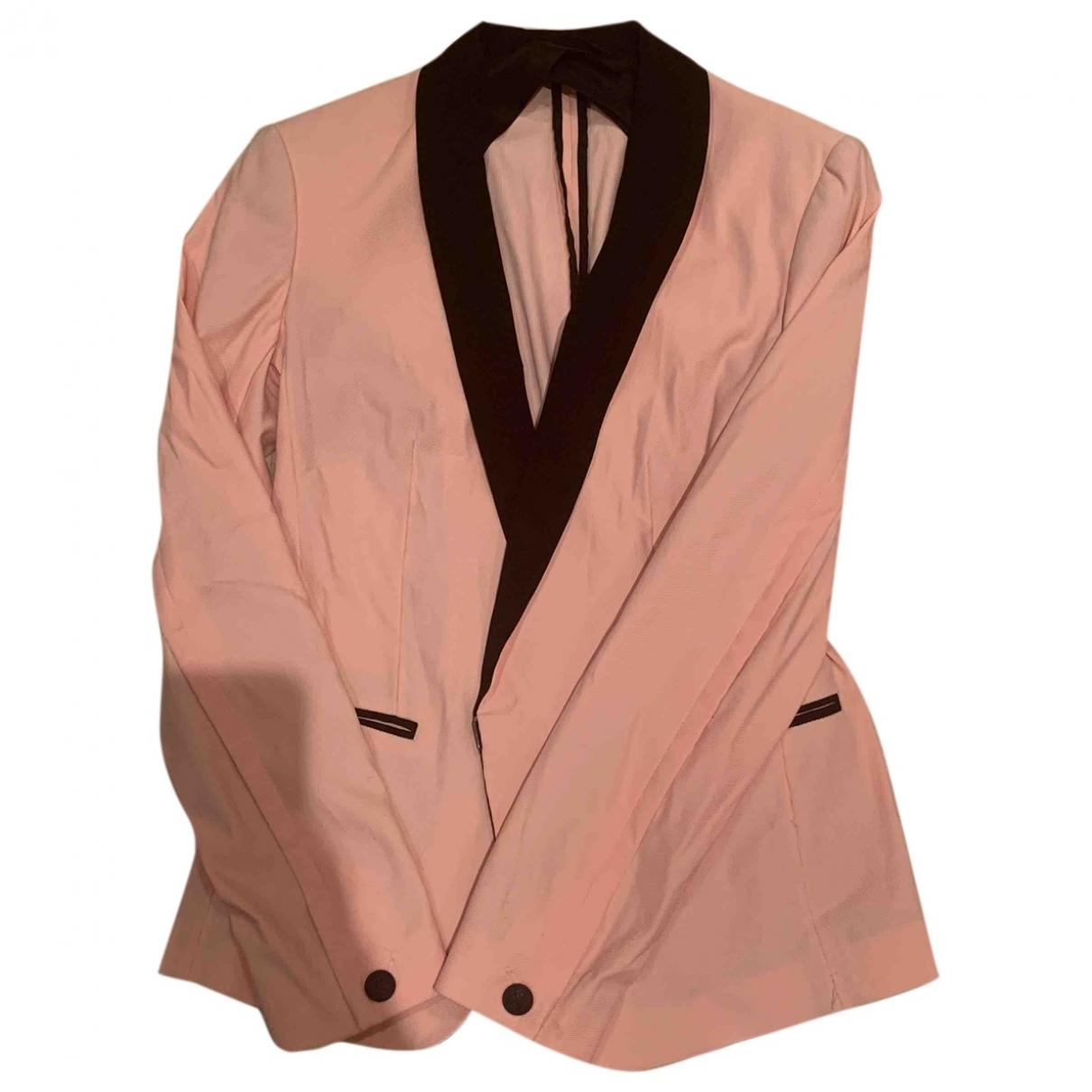 Rag & Bone \N Pink Cotton jacket for Women 2 US
