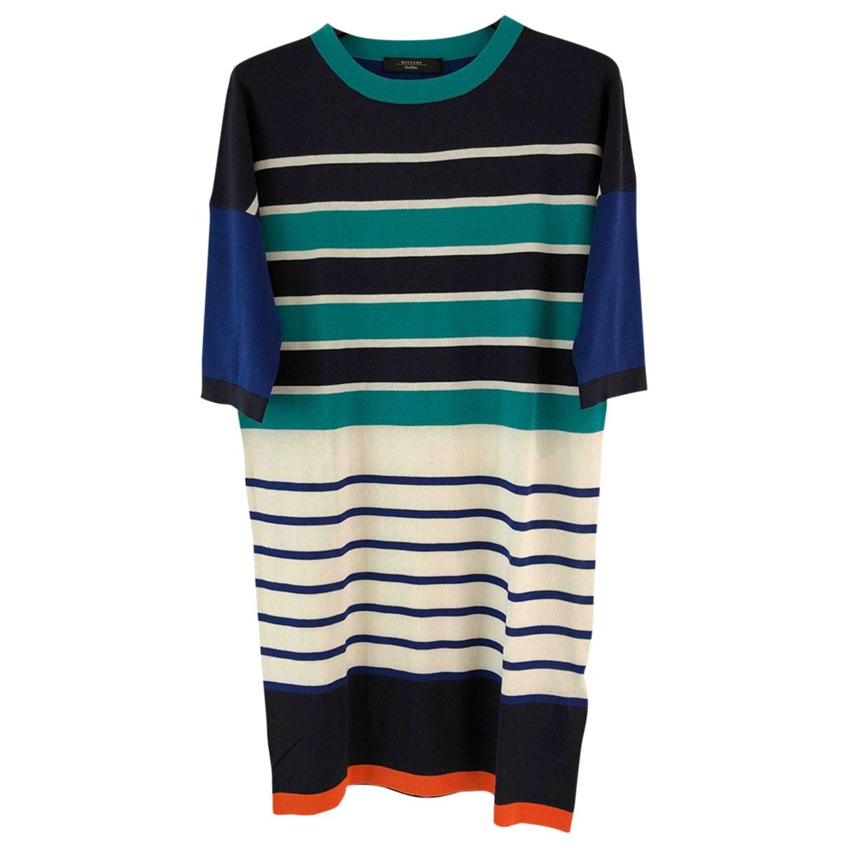 Max Mara Weekend N Blue Silk dress for Women 8 UK