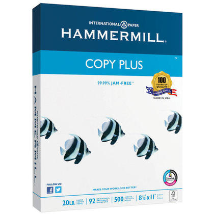 Hammermill Multipurpose Paper, 20L, 92 Bright, Legal Size - 500/Pack