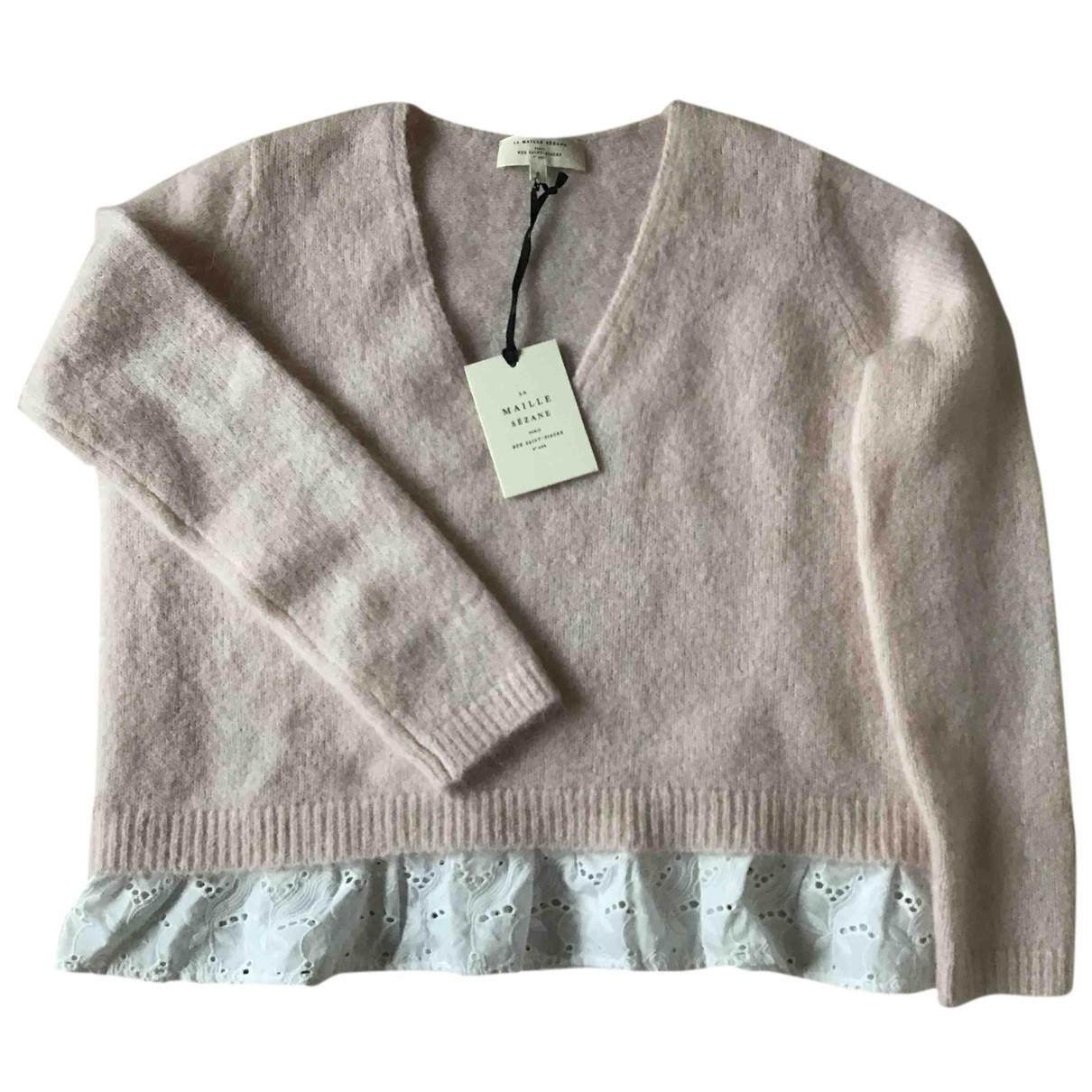 Sézane Fall Winter 2019 Pink Wool Knitwear for Women 36 FR