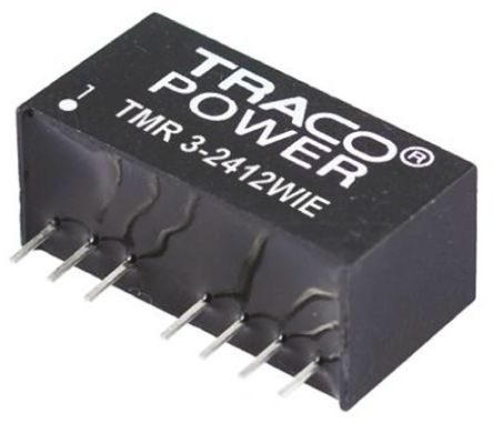 TRACOPOWER TMR 3WIE 3W Isolated DC-DC Converter Through Hole, Voltage in 9 → 36 V dc, Voltage out ±12V dc