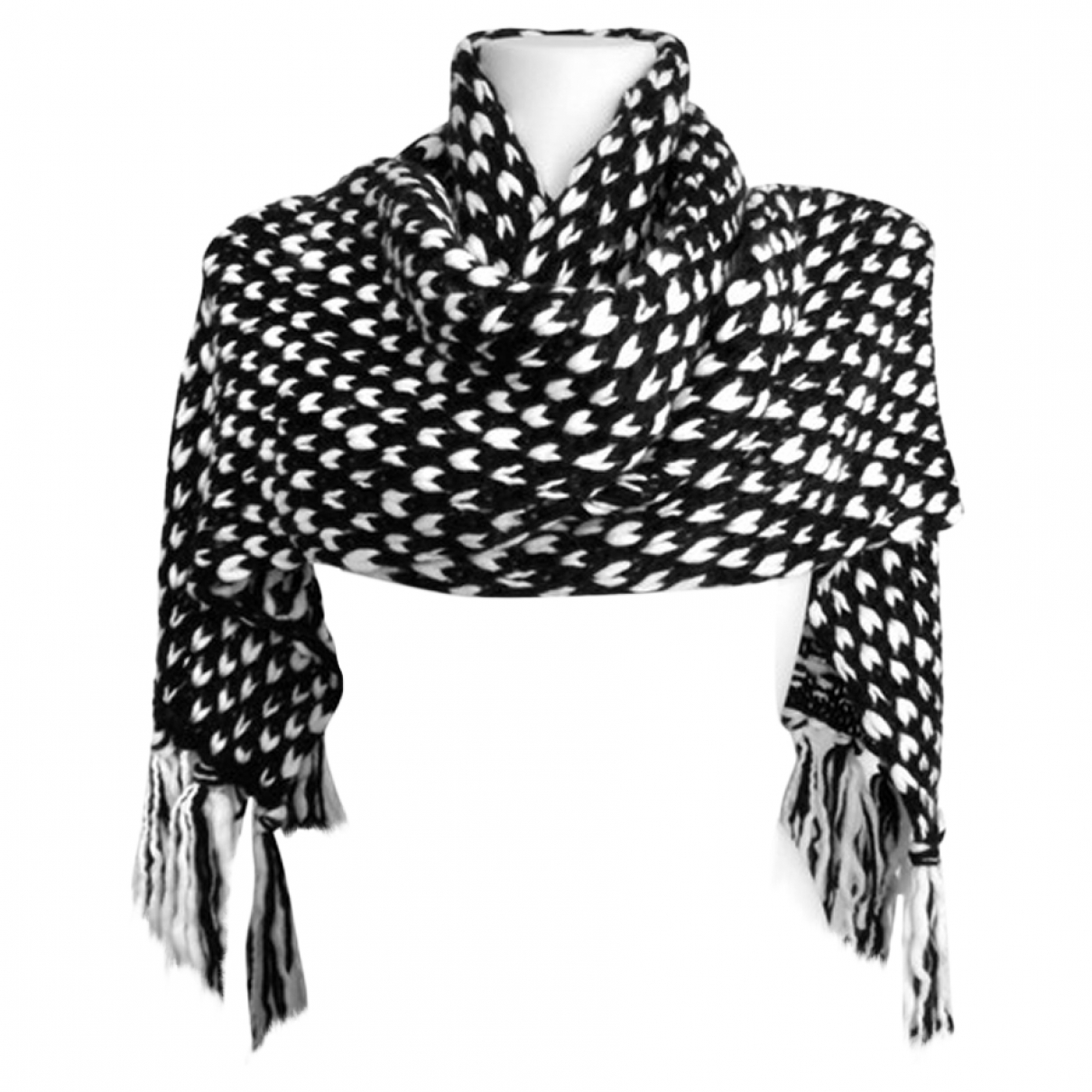 Karl Lagerfeld - Foulard   pour femme en laine - blanc