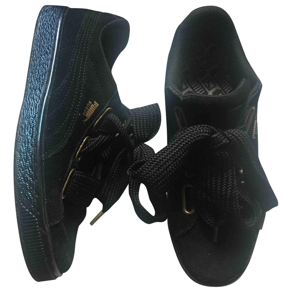 Puma \N Black Suede Trainers for Women 6 UK