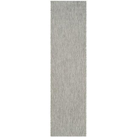 Safavieh Courtyard Collection Monroe Stripe Indoor/Outdoor Runner Rug, One Size , Gray