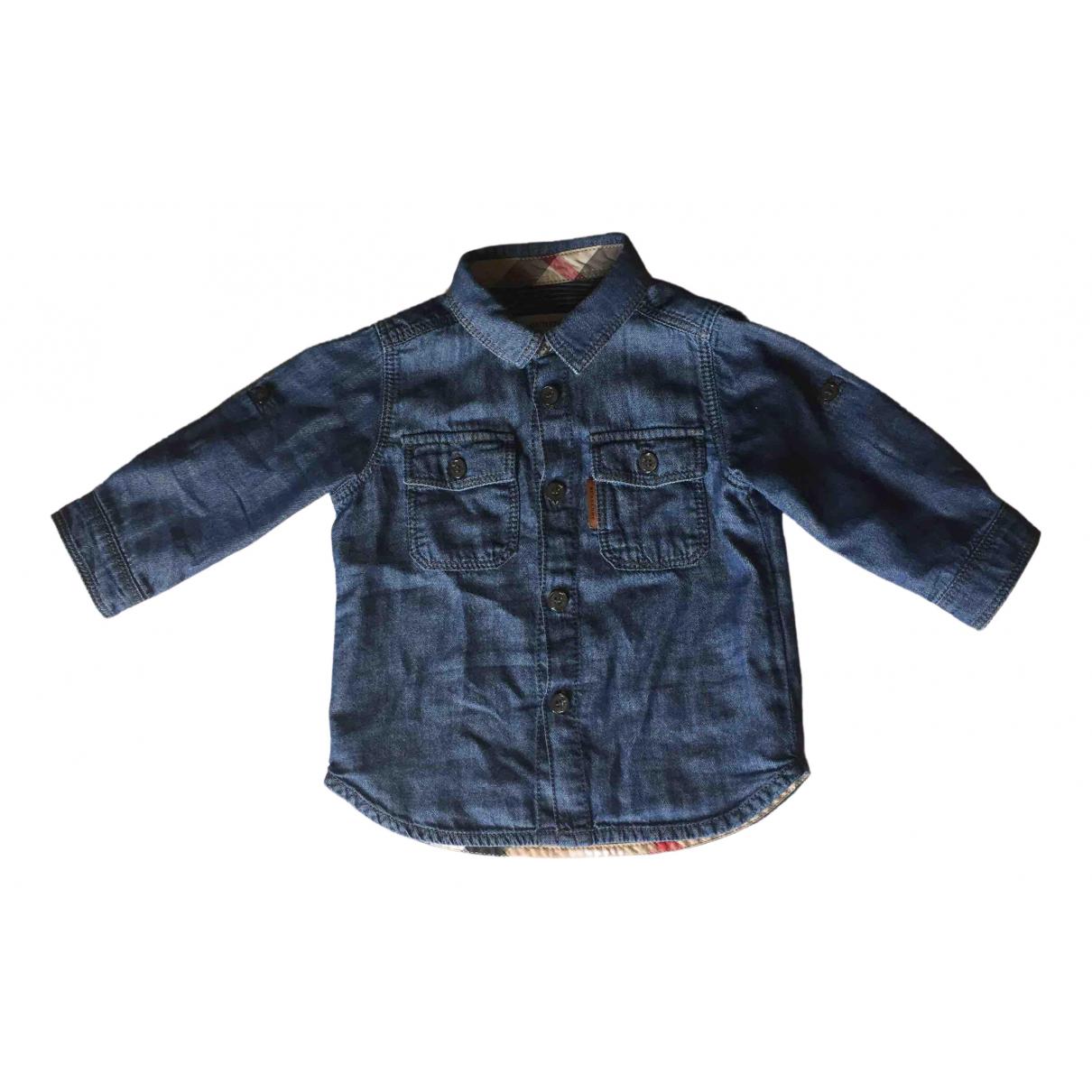 Burberry - Top   pour enfant en coton - bleu