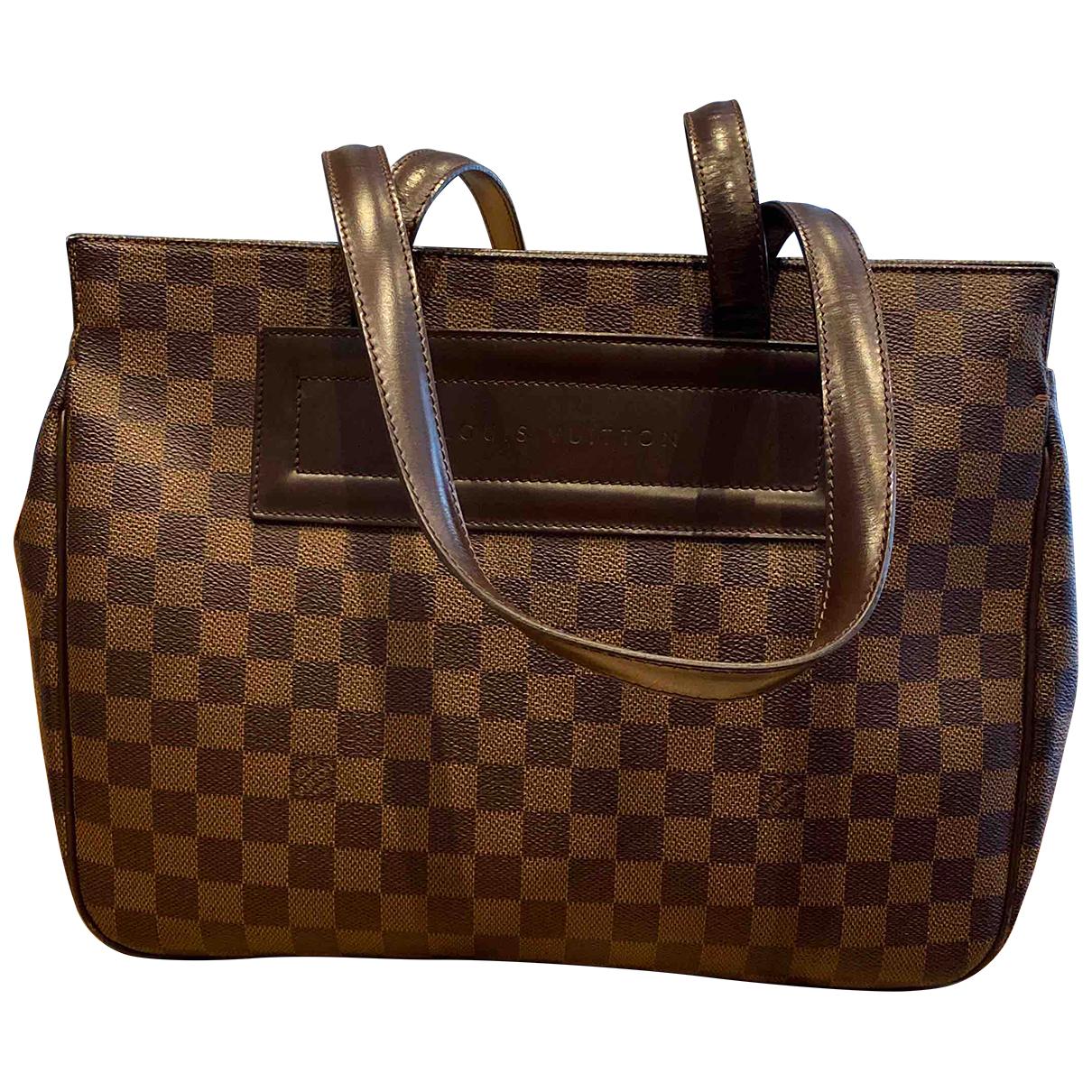 Louis Vuitton - Sac a main Parioli pour femme en toile - marron
