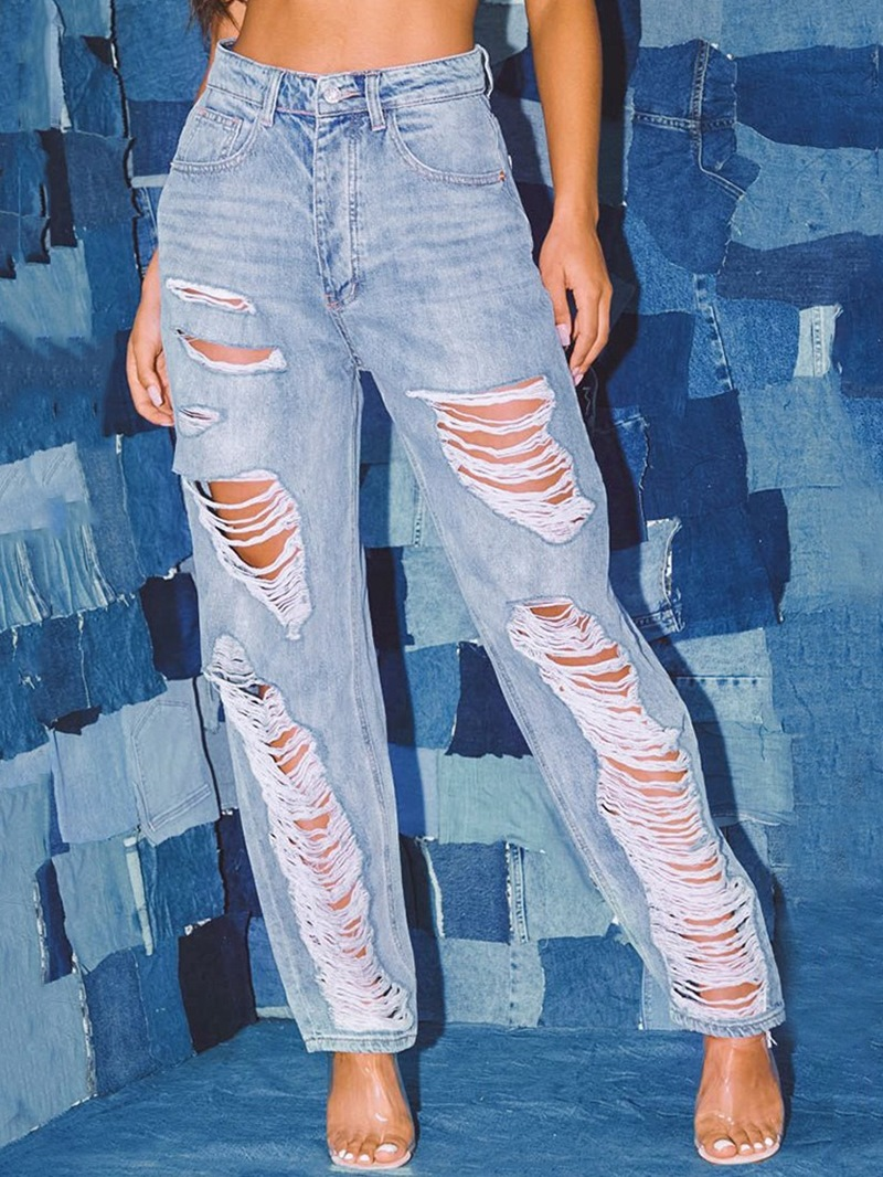 Ericdress Harem Pants Worn High Waist Zipper Jeans
