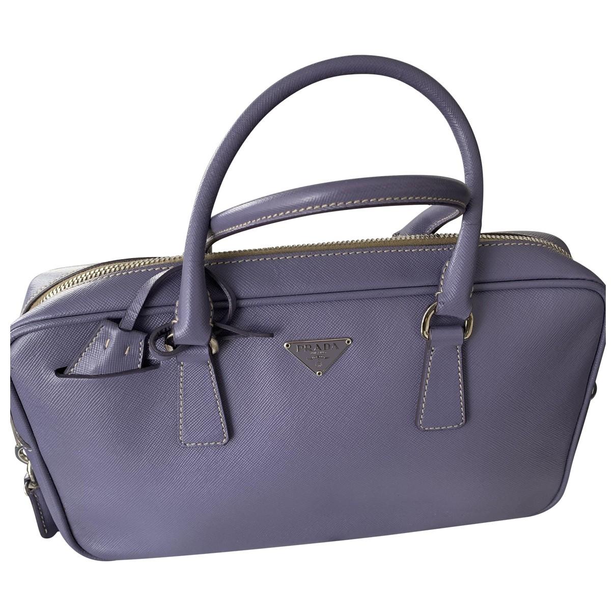 Prada - Sac a main   pour femme en cuir - violet