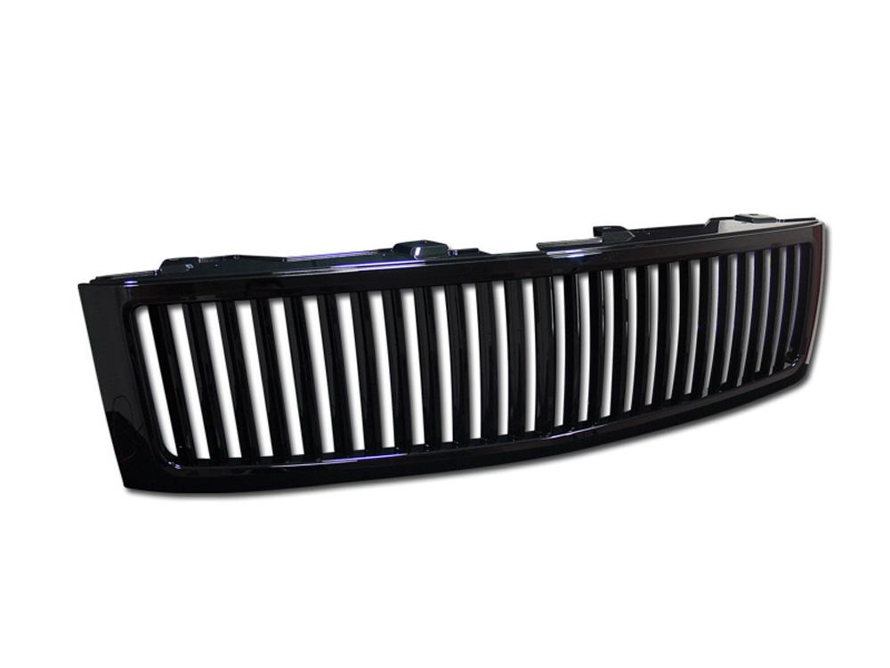 Armordillo 7147294 USA Gloss Black Vertical Style Grille Chevrolet Silverado 1500 2007-2013