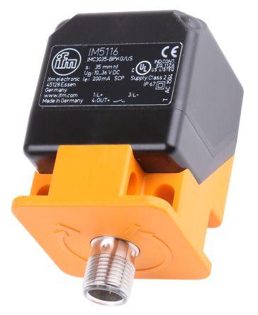 ifm electronic Inductive Sensor - Block, PNP-NO Output, 35 mm Detection, IP67, M12 - 4 Pin Terminal