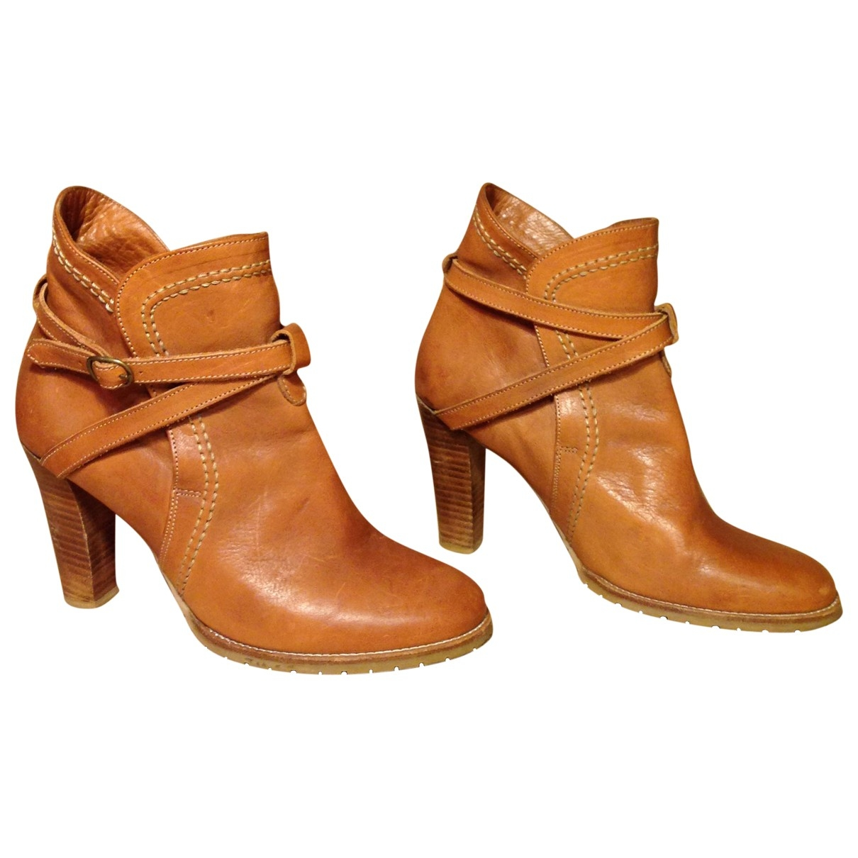 Lemaire - Boots   pour femme en cuir - camel