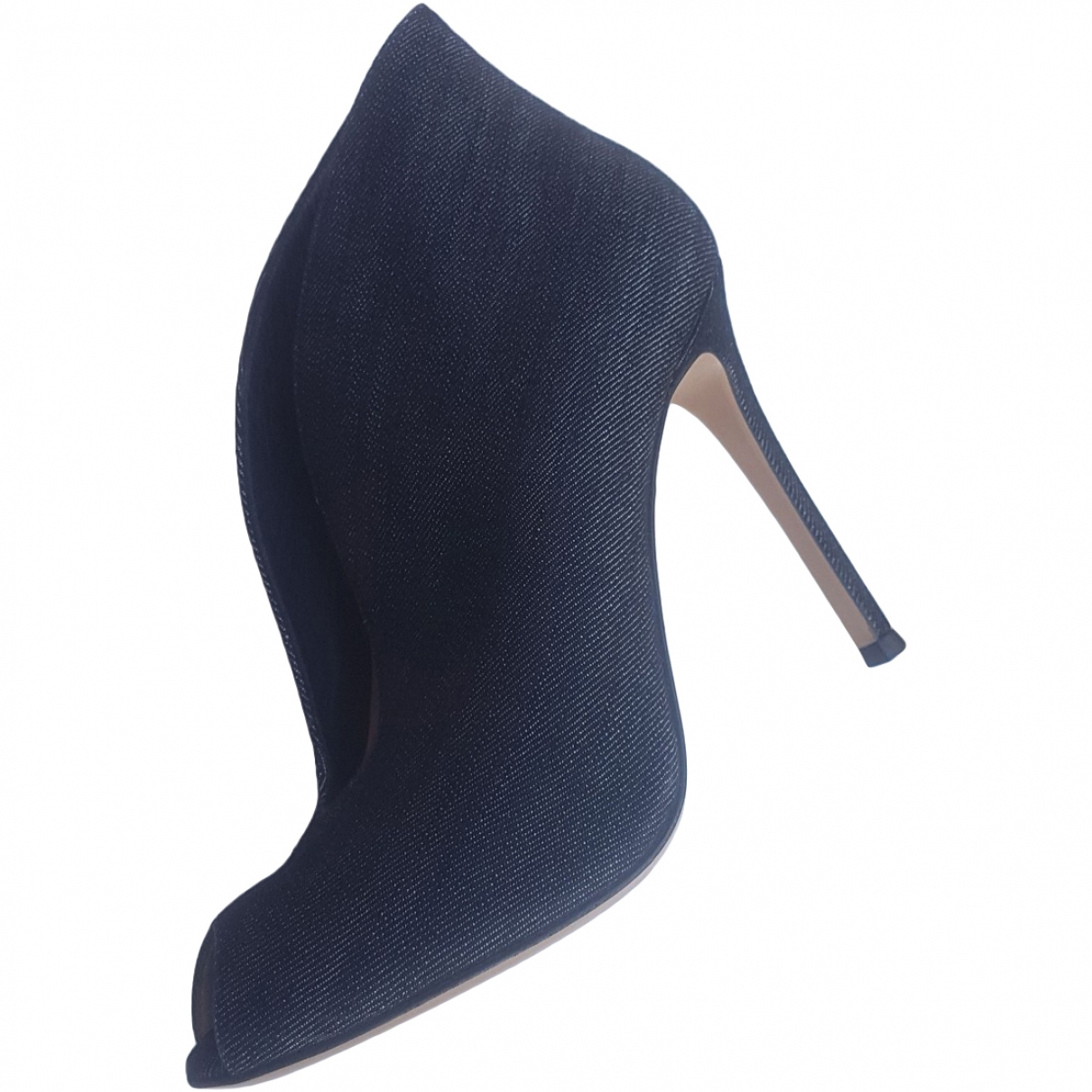 Gianvito Rossi \N Blue Cloth Ankle boots for Women 37 EU
