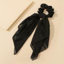 Striped Pattern Bow Scrunchie