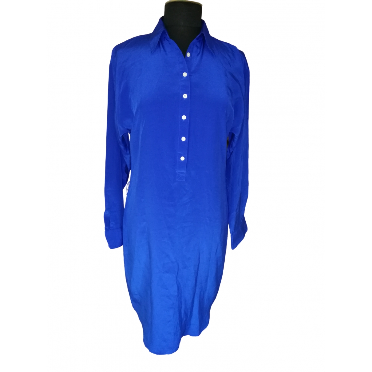 Lauren Ralph Lauren - Robe   pour femme en soie - bleu