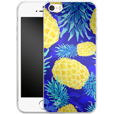 Apple iPhone 5s Silikon Handyhuelle - Pineapple Crush von Mukta Lata Barua