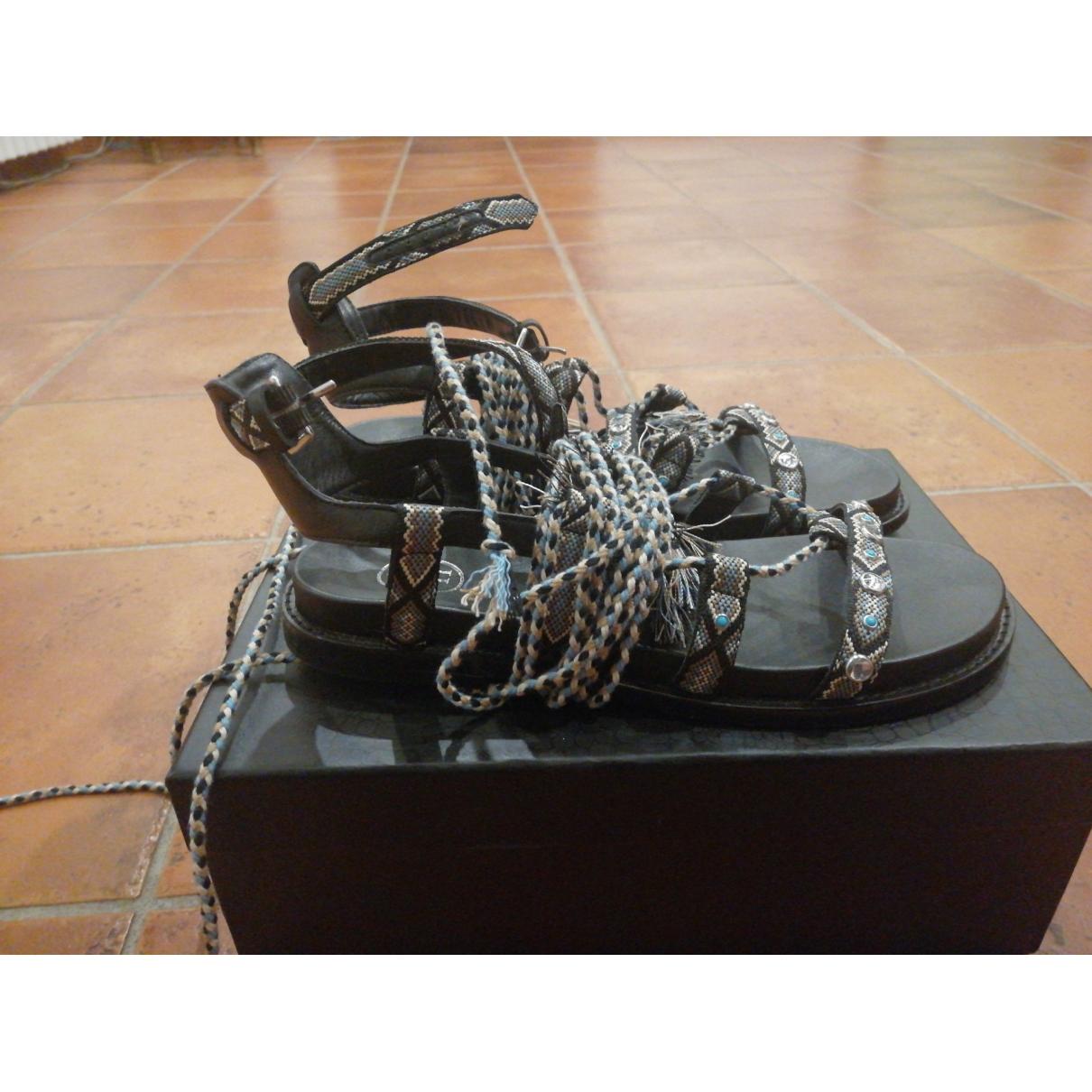 Ash \N Black Leather Sandals for Women 39 EU