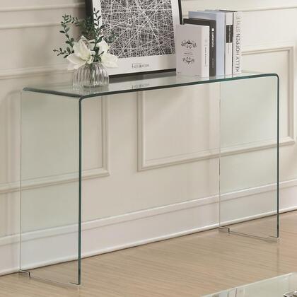 BM184942 Contemporary Style Minimal Clear Glass Sofa Table