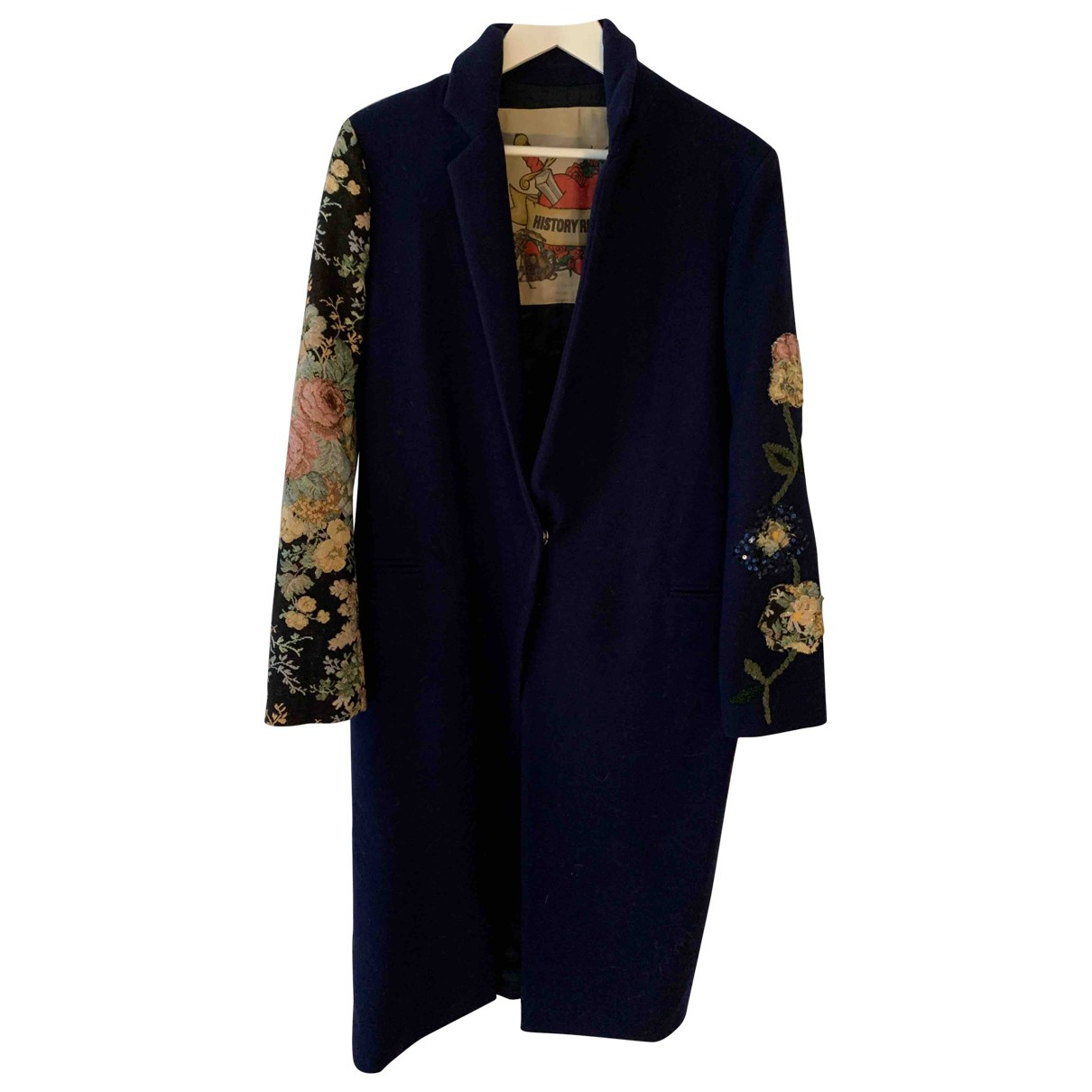 History Repeats \N Navy Wool coat for Women 42 IT