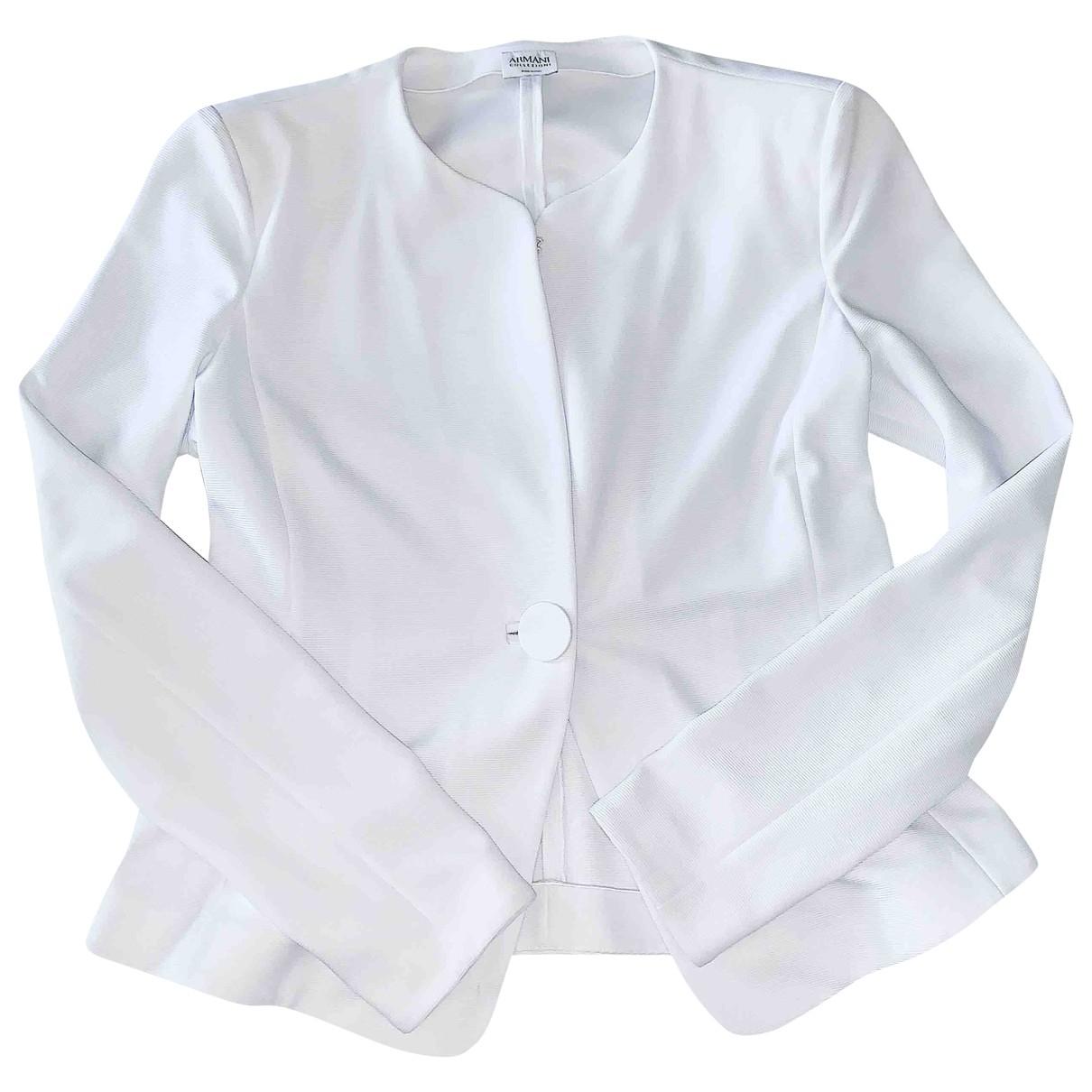 Armani Collezioni \N White jacket for Women 42 IT