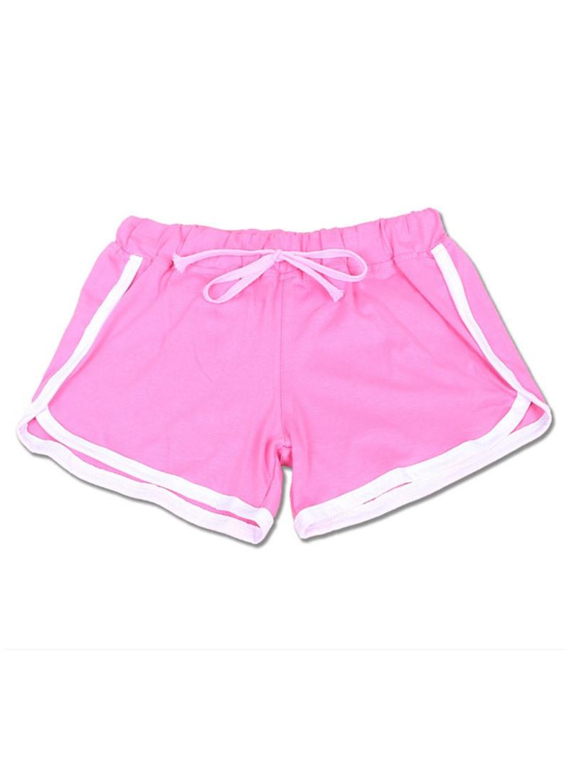 Ericdress Women Plus Size Color Block Gym Sports Shorts Pants