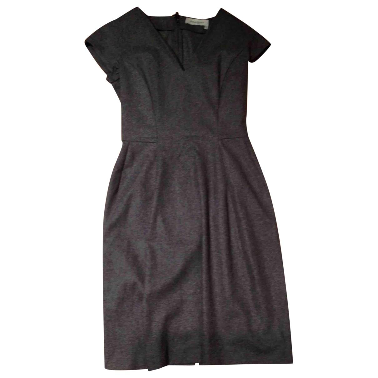 Yves Saint Laurent - Robe   pour femme en laine - anthracite
